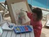 Blanche artiste peintre