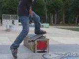 Moi en skate (Boarslide)