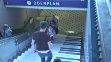 Volkswagen transforme des escaliers en piano!