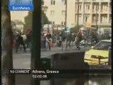 Police + Fascistes vs Antifas ( Athene antifa Euronews)