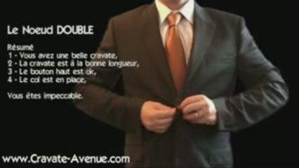 Le noeud de cravate Double - Faire un noeud de cravate