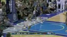 Shawn Marion hypes up the crowd with a fastbreak power flush
