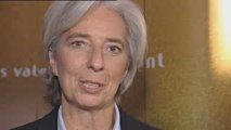 Christine Lagarde présente le Rallye Aïcha des Gazelles
