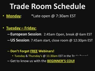Another Great Day IN The Live Trade Room, Did You MIss Out