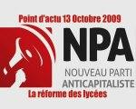 NPA: point d'actualité sur la réforme des lycées