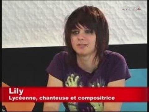 Lily, lycéenne, chanteuse et compositrice