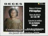 Communiqués nécrologiques du 15-09-09