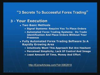 3 Secrets To Successful Forex Trading