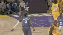 NBA Gerald Wallace goes behind his back past Kobe Bryant to