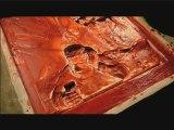 Le Crabe aux Pinces d'Or - Création d'une plaque en bronze