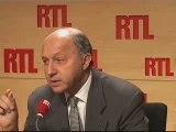 """Laurent Fabius sur RTL : """"Il me revient une anecdote"""" (21/10"""