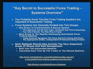 Secret To Successful Forex Trading – Systems Review