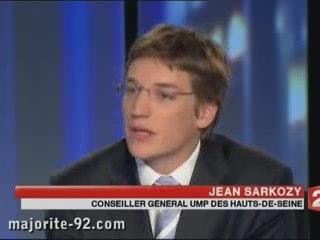 Jean Sarkozy au JT de 20h sur France 2 - Epad