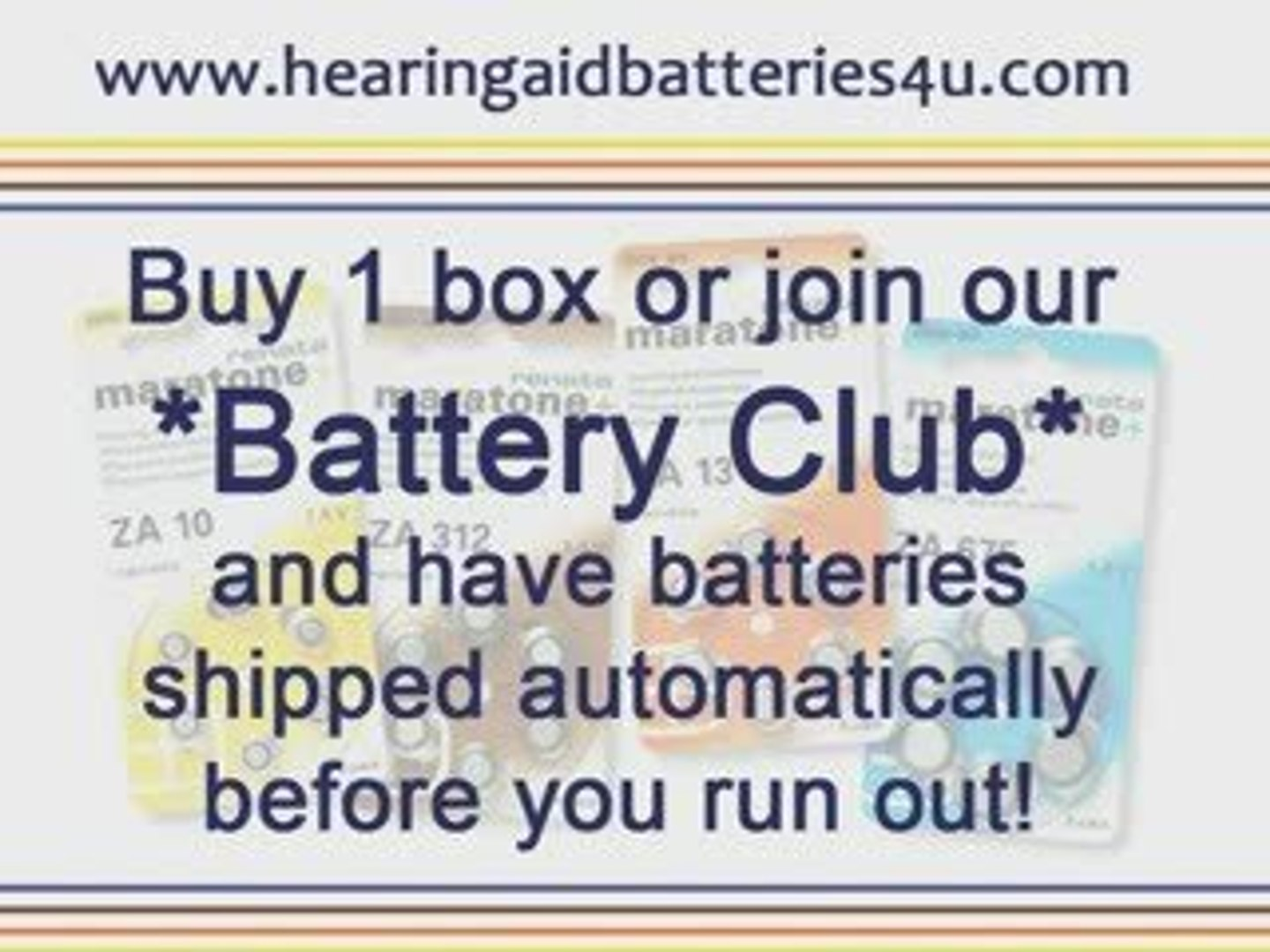 HEARING AID BATTERIES - HEARING AID BATTERIES CLUB