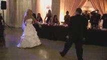 Hot Blonde Bride Surprise first dance
