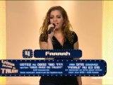 Farrah à la grande finale de Vous avez du talent sur IDF1 le