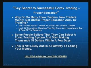 Secret To Successful Forex Trading – Education