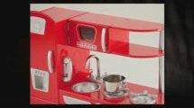 KidKraft Red Vintage Kitchen 53156 Wooden Pretend Play Toys