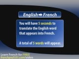 Learn French - French Video Vocabulary Newbie series #5