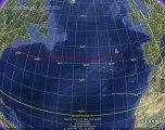 Ocean express - La cartographie traversée heure par heure