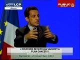 EVENEMENT,Discours de Nicolas Sarkozy sur le plan cancer 2 en direct de Marseille