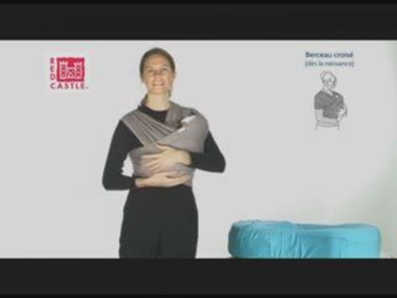 code de promo 100% de qualité supérieure extrêmement unique Echarpe portage bébé berceau double croisé (Red Castle)