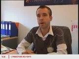 Reportage reaction des Verts à la visite d'Hervé Morin