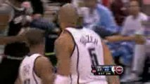 NBA Ronnie Price throws a nice pass to Carlos Boozer, who fi