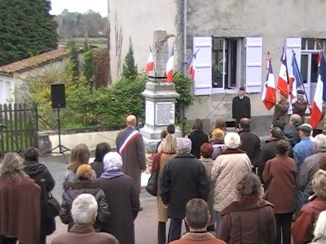 Commémoration de l'armistice du 11 novembre St Estèphe 24360