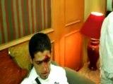 Joueurs algériens blessés par les supporters egyptiens