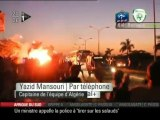 Les Joueurs Algériens agréssé en bus par égyptiens  [ iTélé]