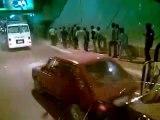 Egyptiens lancent des pierres au bus supporters algériens