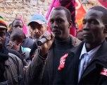 travailleurs sans-papiers en lutte le 13 Nov. à Versailles