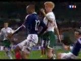 La main de Thierry Henry France Irlande !!