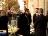 Obsèques de l'acteur Jocelyn Quivrin à Paris