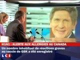 Des allergies graves au vaccin H1N1 de GSK au Canada