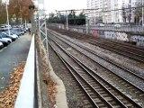BB 25000 en livrée en Voyage+BB 75000 Fret+BB 67000 Fret+ 14 Trains TER+4 trains TGV à Lyon le 27/11/09