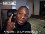 Kery James en studio exclu streetlive
