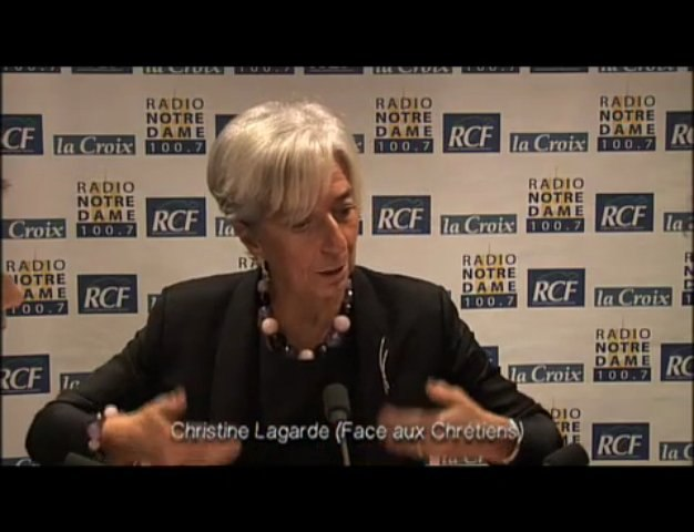 Christine Lagarde - Face aux Chrétiens partie 1 - 03/12/2009