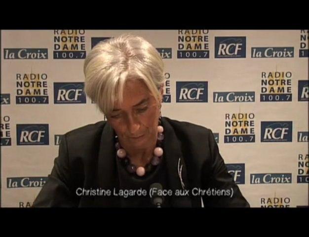 Christine Lagarde - Face aux Chrétiens partie 3 - 03/12/2009