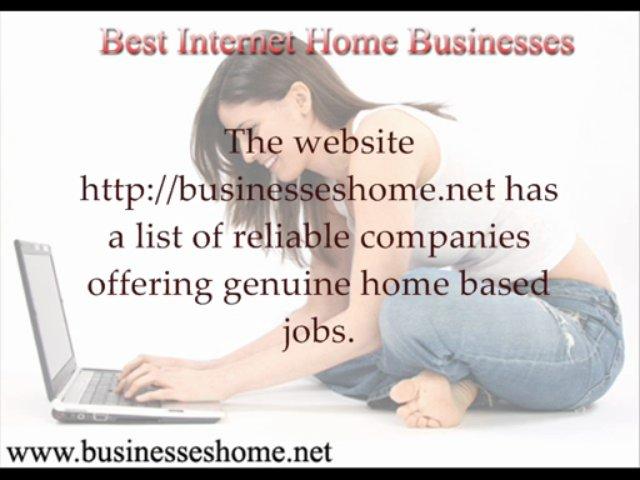 Best Internet Home Businesses