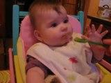 La première compote de Abby !