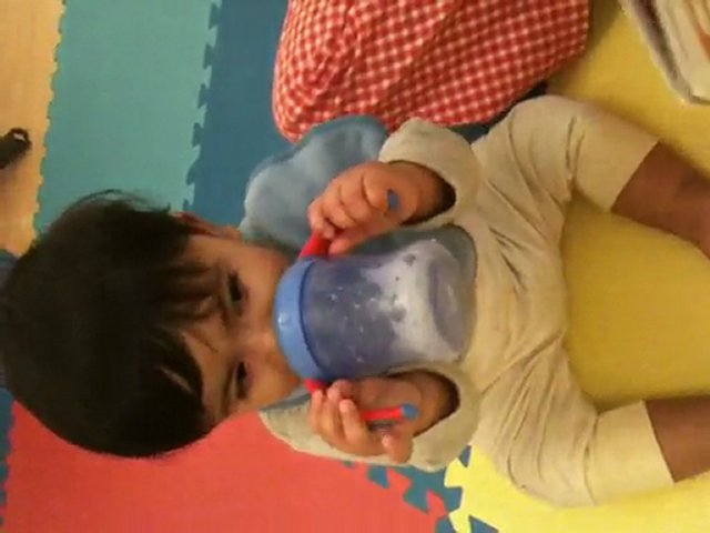 rishabh drinking milk