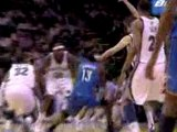NBA James Harden misses the shot but Russell Westbrook finis