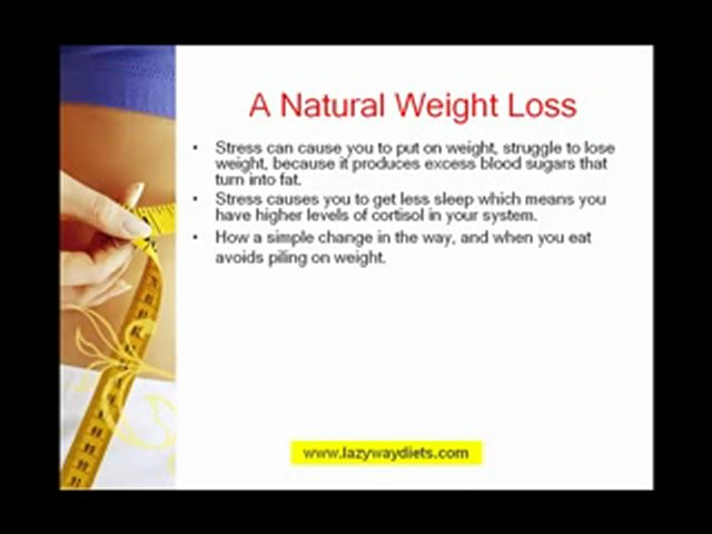Losing Weight Fast The lazy way to lose weight