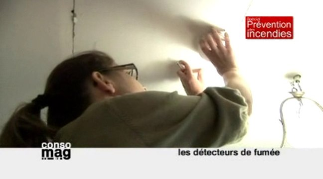 Conso Mag : installer un détecteur de fumée