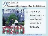 Wilder Coe Research & Development Tax Credit Scheme