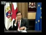 Mikheïl Saakachvili semble soucieux