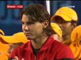 Les larmes de Federer à l'Open  d'Australie