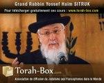 Le Temps, cours de Torah exceptionnel du Rav Yossef Sitruk